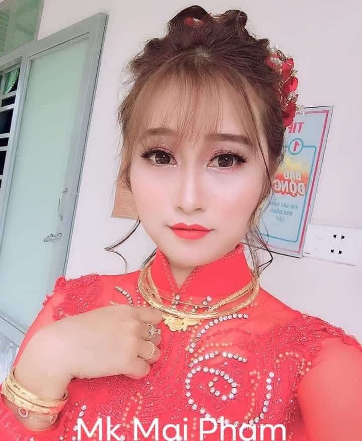 Mai Pham Makeup tiệm trang điểm cô dâu đẹp nhất Ayun Pa, Gia Lai